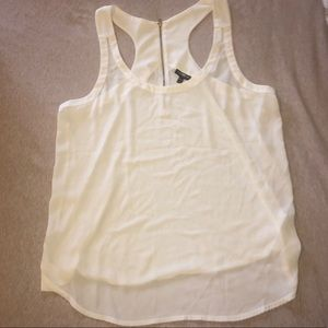 Express Tops - White Razorback tank
